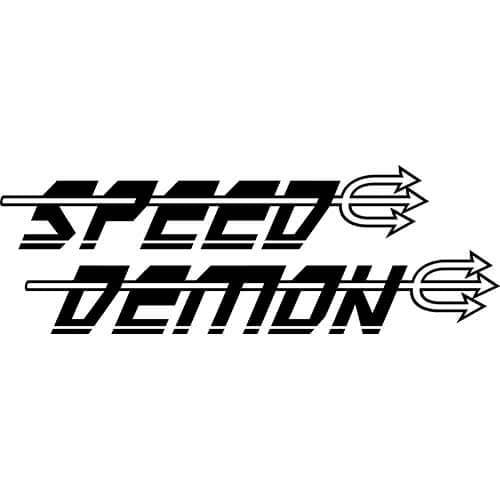 Speed Demon Logo Decal Sticker