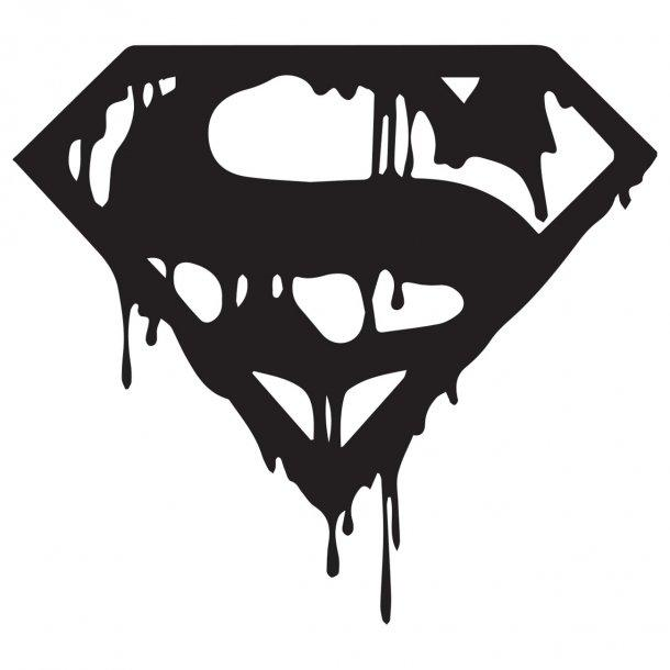 Superman Bloody Decal Sticker