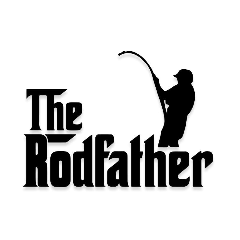 The Rodfather Dad Fishing Decal Sticker