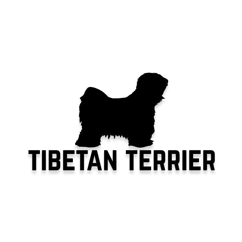 Tibetan Terrier Car Decal Dog Sticker for Windows