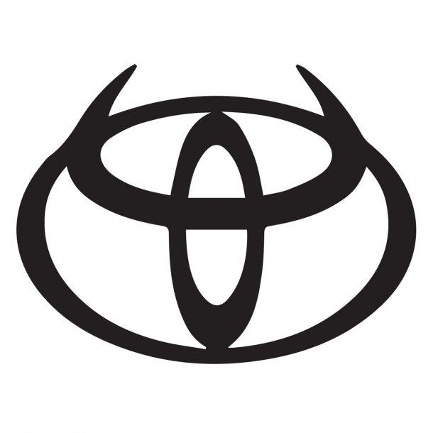 Toyota With Horns Decal Sticker