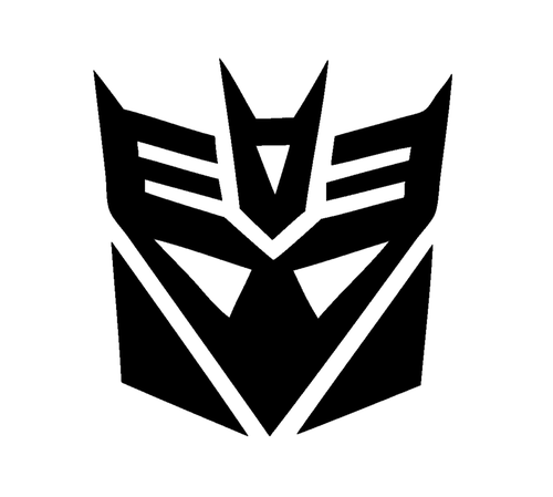Transformers Decepticon Symbol Decal Sticker