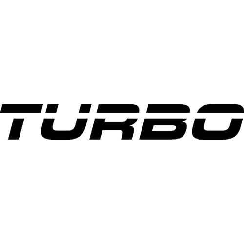 Turbo Logo Decal Sticker