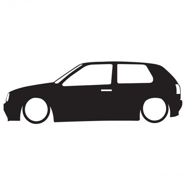 Vw Golf 3 Silhouette Decal Sticker