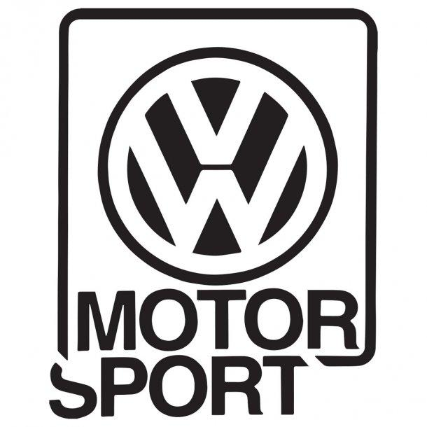 Vw Logo Motor Sport Decal Sticker
