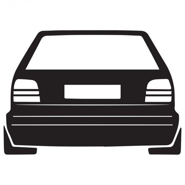 Vw Polo 86C Decal Sticker