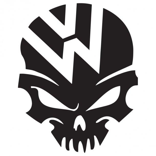 Vw Skull Decal Sticker