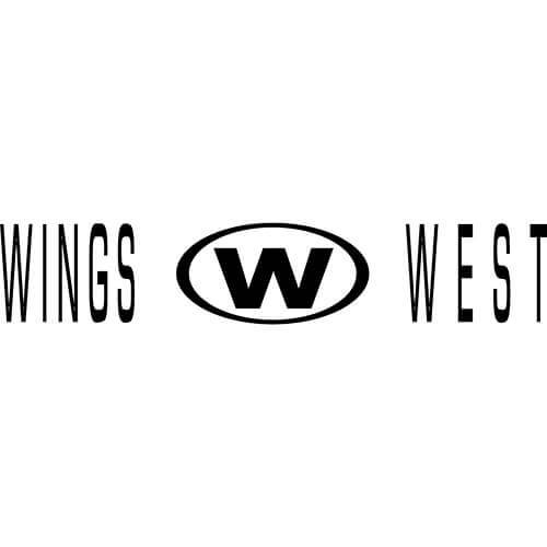 Wings West Logo Decal Sticker