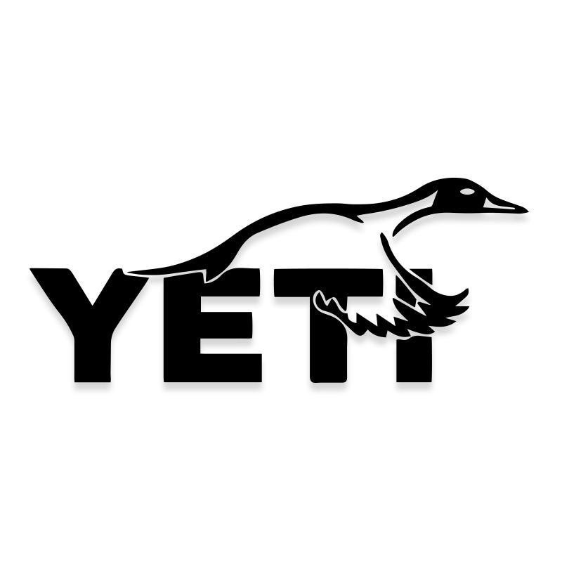 Yeti Duck Hunting Logo Decal Sticker