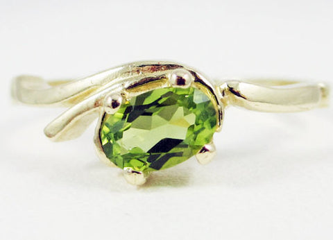 Peridot Oval Ring 14k Yellow Gold, August Birthstone Ring, Yellow Gold Peridot Ring, Solid 14 Karat Gold Ring, 14k Yellow Gold Ring