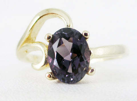 Alexandrite 14k Yellow Gold Oval Ring