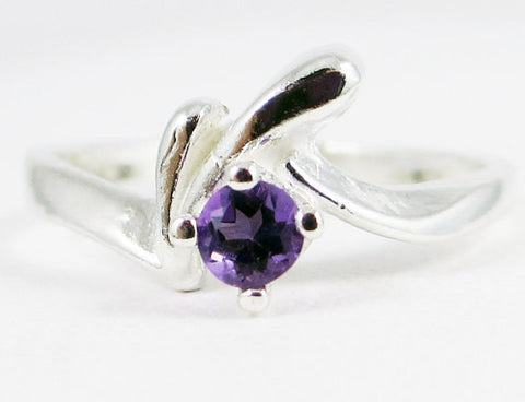 Amethyst Birthstone Ring, 925 Sterling Silver, February Birthstone Ring, Purple Amethyst Birthstone Ring, 925 Amethyst Gemstone Ring