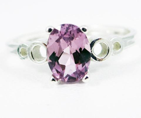 Alexandrite Oval Bubble Ring Sterling Silver