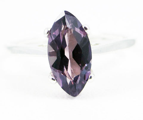 Alexandrite Marquis Solitaire Ring 925 Sterling Silver