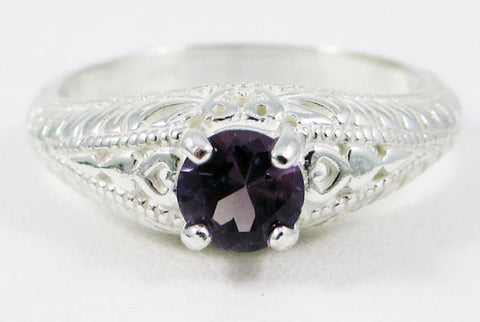 Alexandrite Filigree Ring 925 Sterling Silver