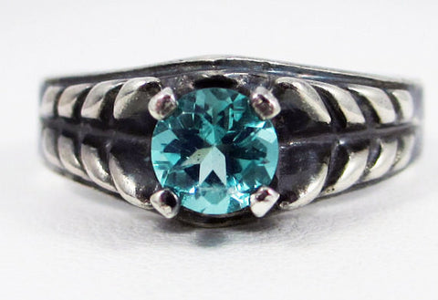 Oxidized Apatite Ring Sterling Silver, Green Apatite Ring, Natural Apatite Ring, Oxidized Sterling Silver Ring, 925 Ring