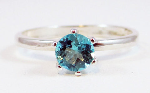Apatite Solitaire Ring Sterling Silver, Green Apatite Ring, 925 Ring, Sterling Solitaire Ring, 925 Sterling Silver Ring, Blue Green Apatite