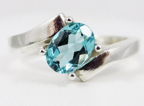 Apatite Offset Oval Ring Sterling Silver, Oval Apatite Ring, Sterling Silver Oval Ring, 925 Apatite Ring, 925 Sterling Silver Ring