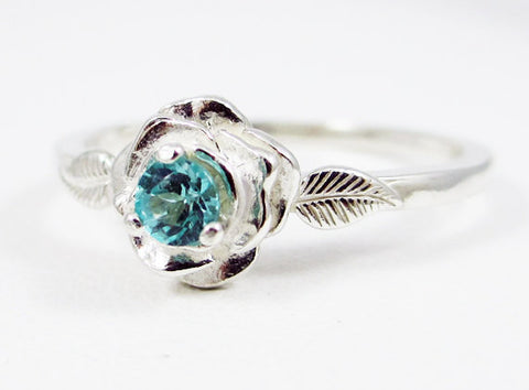 Apatite Rose Ring Sterling Silver, Green Apatite Ring, Sterling Silver Rose Ring, 925 Rose Ring, Apatite Rose Ring, 925 Sterling Silver Ring