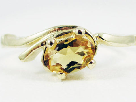 Citrine Oval Ring 14k Yellow Gold, Solid 14 Karat Gold Ring, November Birthstone Ring, 14k Gold Citrine Oval Ring, Yellow Gold Ring
