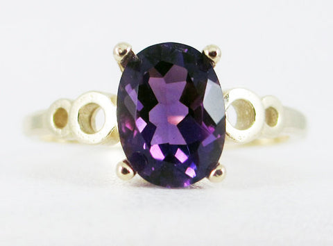 Amethyst Oval 14k Yellow Gold Bubble Ring