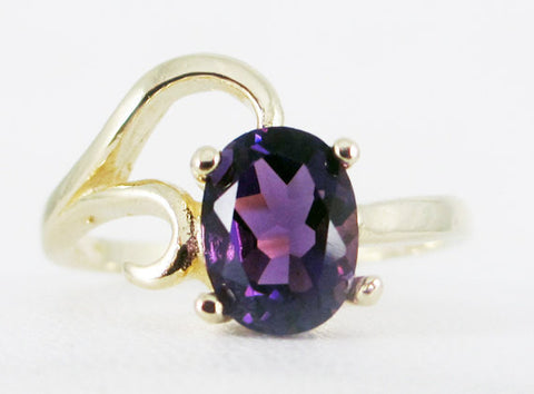 Amethyst Oval 14k Yellow Gold Oval Ring