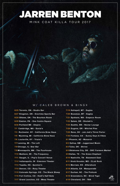 2017 The Mink Coat Killa Tour Signed Poster