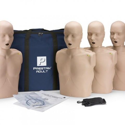 Prestan Professional Adult CPR-AED Training Manikins (4-Pack)