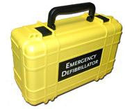 Deluxe Hard Carrying Case - Yellow Lifeline- SEMI and Auto units ONLY