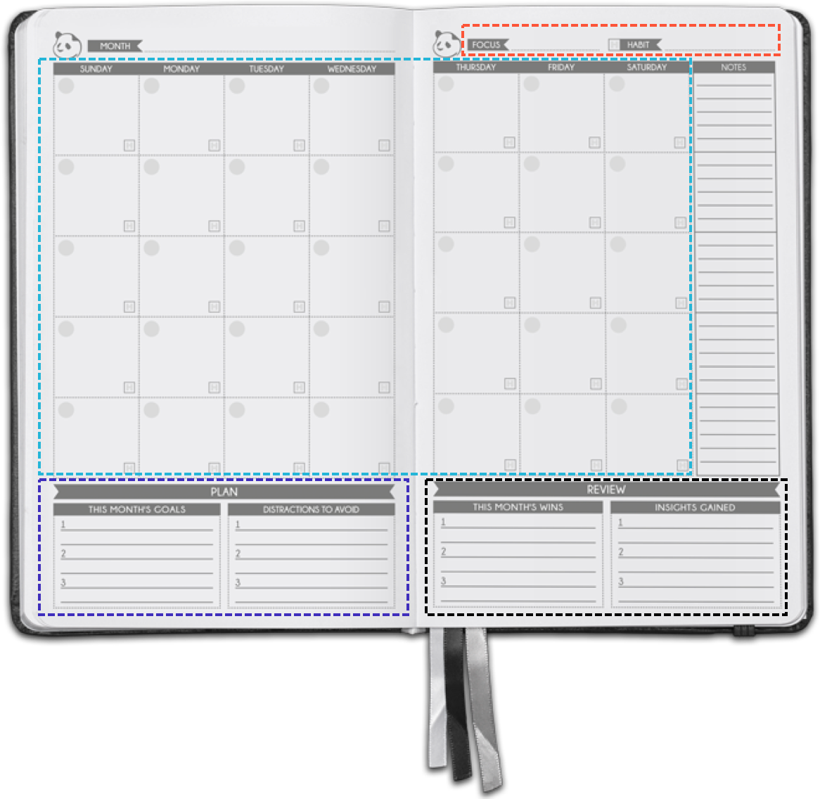 graphic regarding Full Focus Planner Pdf titled Panda Planner® Professional