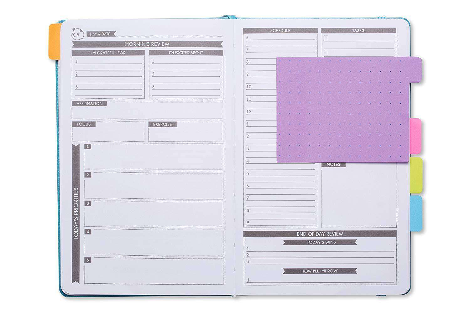 Sticky Notes for Planners by Panda Planner Sticky Notes 140 Total Tab Divider Notes