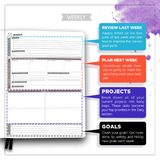 "Panda Planner® Pro Daily Planner 8.5"" x 11"" Undated"