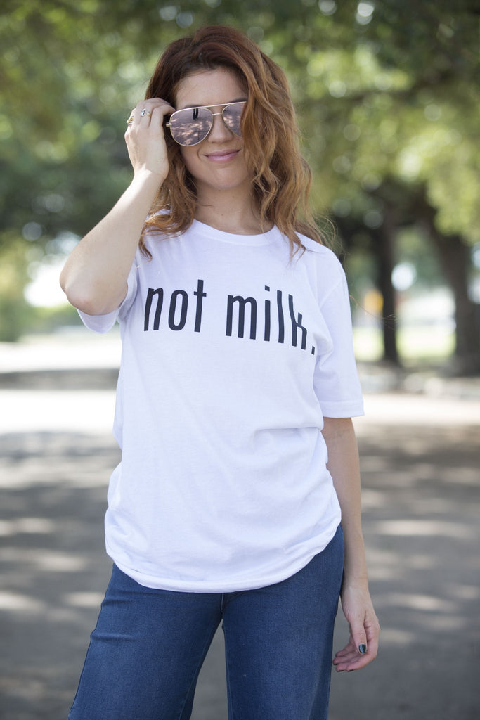 Vegetaryn Not Milk Graphic Tee Tops- Tristin