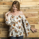 Sara Cold Shoulder Top Tops- Tristin