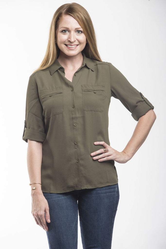 Work It 3/4 Sleeve top Tops- Tristin