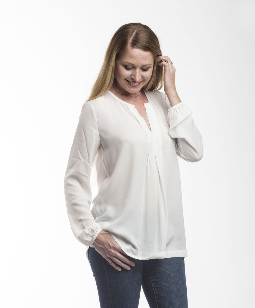 Savanna Long Sleeve Blouse Tops- Tristin