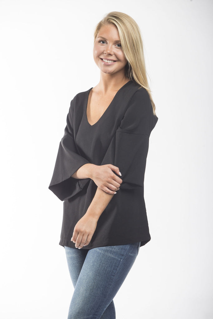 Brilliance 3/4 Bell Sleeve Top Tops- Tristin