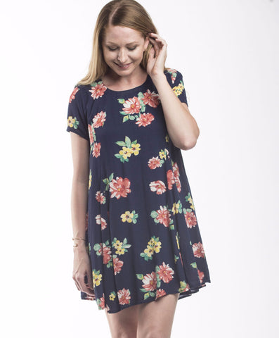 Nikki Short Sleeve Raglan Shift Dress