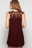 Lady Lace Burgundy Dress Dresses- Tristin