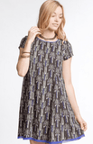 Tribal Print Swing Dress Dresses- Tristin