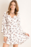 Katie Bell Sleeve Floral Dress Dresses- Tristin
