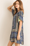Mix Print Swing Tent Dress Dresses- Tristin