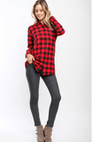 Holly Buffalo Check Plaid Top Tops- Tristin