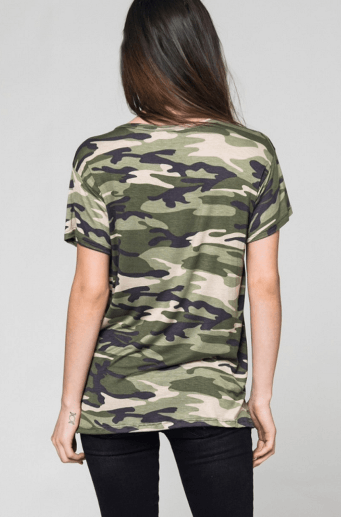 Camo Pocket Tee Tops- Tristin
