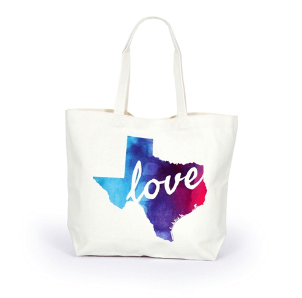 State of Texas Love Canvas Tote Bag Accessories- Tristin