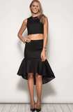 Textured Trumpet Mermaid Skirt Skirts- Tristin