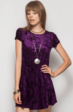 Velvet Shift Dress Dresses- Tristin