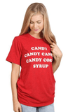 Charlie Southern Candy, Candy Canes, Candy Corn, Syrup Tee Tops- Tristin