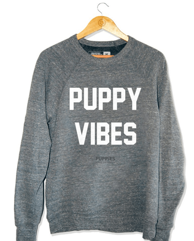 Puppies Make Me Happy Tank - Black