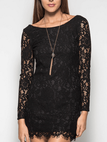 Black Lace Top Tulle Maxi Slip Dress